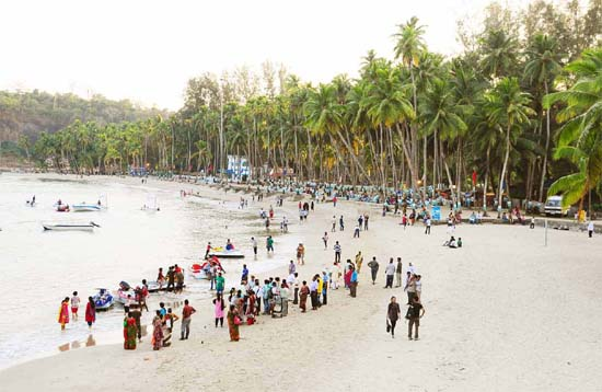Andaman Lagoons - Popuplar Destination, City Tour, Place to Visit or Sightseeing - Corbyn's Cove Beach at Port Blair in Andaman Islands