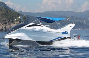 Andaman Lagoons - Popular Water Sports Activity or Adventure Activity Andaman Dolphin Cruise (a Speed Boat with Glass Bottom) at Port Blair in Andaman Islands